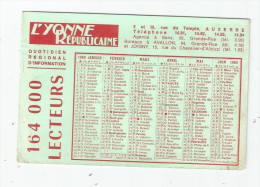 G-I-E , Calendrier , 1969 , L'YONNE REPUBLICAINE , 2 Scans - Calendars