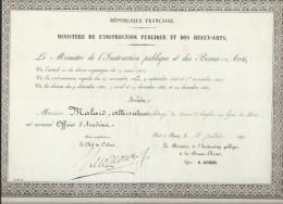 Officier D´Académie/ Ministére De L´Instruction Publique Et Des Beaux-Arts/Le Havre / Paris /1894  DIP84 - Diplômes & Bulletins Scolaires
