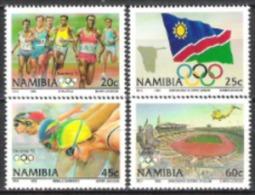Namibia Südwestafrika SWA 1992 Sport Spiele Olympia Olympics Barcelona Leichathletik Schwimmen Fahnen, Mi. 727-0 ** - Namibia (1990- ...)