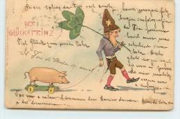 DER GLÜCK &  PRINZ - Conchon (jouet) Et Lutin. - Cochons