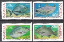 Namibia Südwestafrika SWA 1994 Tiere Animals Fauna Fische Fish Meerestiere Freizeit Küstenangeln Angeln, Mi. 764-7 ** - Namibia (1990- ...)
