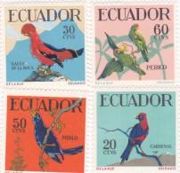 Ecuador Birds 644-47 MNH - Ecuador