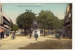 Carte Postale Ancienne Chalon Sur Saône - Place De Beaune - Horloge - Chalon Sur Saone