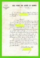 Quimper - Asile D'aliénés - 1936 - Mise En Demeure Pour Absentéisme - Unclassified