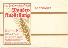 5000 KÖLN, EREIGNIS, 36. Landwirtschaftliche Wander-Ausstellung 1930 - Koeln