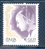 FL1811 - DONNA NELL´ARTE - 1 Valore Nuovo Da € 0,03. III^ Emissione 2002 Senza S.p.A. - 2001-10:  Nuovi