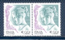 FL1815 - DONNA NELL´ARTE - Coppia Nuova Da € 0,01. V^ Emissione 2003 Con S.p.A. - 2001-10:  Nuovi