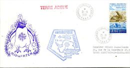 N°486 B -pli TAAF -cachet Expédition Antarctique Française- - French Southern And Antarctic Territories (TAAF)