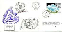 N°487 B -pli TAAF -cachet Midwinter - French Southern And Antarctic Territories (TAAF)