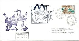 N°491 B -pli TAAF -cachet Midwinter- - French Southern And Antarctic Territories (TAAF)