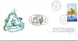 N°492 B -pli TAAF -cachet Crozet- - French Southern And Antarctic Territories (TAAF)