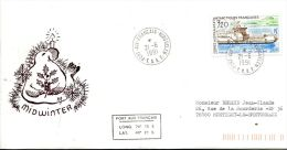N°493 B -pli TAAF -cachet Midwinter - French Southern And Antarctic Territories (TAAF)