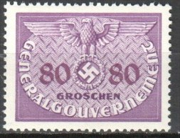 Poland - Generalgouvernement - 1940 Official - Dienstmarke Mi D12 - MNH (**) - 1939-44: 2. WK