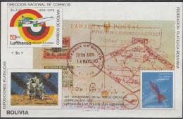 """BOLIVIEN Block 104(909B) """"50.Jahrestag Der Ersten Zeppelin-Südamerikafahrt"""" MNH / ** / Postfrisch - Bolivien"""