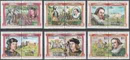 """TUVALU-Vaitupu 9-20 In Waagrechten Paaren """"Englische Monarchen"""" MNH / ** / Postfrisch - Tuvalu (fr. Elliceinseln)"""
