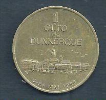 1 Euro Temporaire Precurseur De DUNKERQUE  1998, RRRR, UNC, Bronce, Nr. 283 - Euro Der Städte