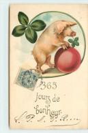365 JOURS DE BONHEUR - Cochon Et Trèfle. - Cochons