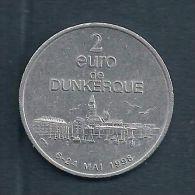 2 Euro Temporaire Precurseur De DUNKERQUE  1998, RRRR, UNC, Nickel, Nr. 284 - Euro Der Städte