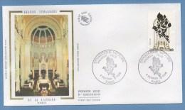 France FDC Silk Soie Synagogue Victoire Paris 1988 N° 2516 - FDC