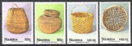 Namibia Südwestafrika SWA 1997 Kunst Kultur Handwerk Korbflechten Flechten Korbwaren Körbe, Mi. 850-3 ** - Namibia (1990- ...)