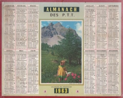 Calendrier - Almanach Des PTT 1963 - Somme - Big : 1961-70