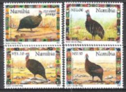 Namibia Südwestafrika SWA 1997 Tiere Animals Fauna Vögel Birds Perlhühner Hühner Helmperlhuhn, Mi. 871-4 ** - Namibia (1990- ...)
