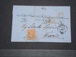TURQUIE - Rare Lettre De Smyrne Par Marseille Pour Tunis 18 Aoùt 1870  - A Voir - Lot 14997 - 1837-1914 Smyrna