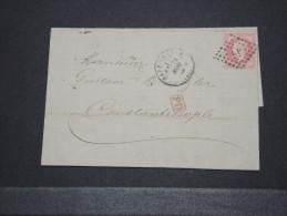 TURQUIE - Belle Lettre De Paris Pour Constantinople - Nov 1872  - A Voir - Lot 14998 - 1837-1914 Smyrna