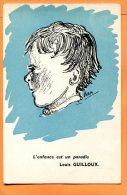 LOL074, Louis Guilloux, Campagne Pour La Sauvegarde De L'enfance Et L'adolescence, 1, Non Circulée - Non Classificati