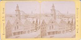 Vieille Photo Stereoscopique Allemagne Francfort Vers 1870 Le Boemer - Stereoscopic