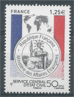 France, Service Of Civil Registry, 2015, MNH VF - France
