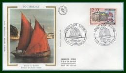 France FDC Silk Soie Musée Du Bateau Douarnenez 1988 N° 2545 - FDC