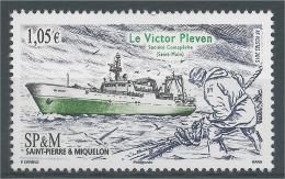 """Saint Pierre And Miquelon, Ship, Le """"Victor Pleven"""", 2015, MNH VF - Nuovi"""
