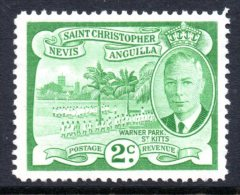 St Kitts, Nevis & Anguilla 1952 KGVI Scenic Definitives - 2c Warner Park HM (SG 95) - St.Christopher-Nevis-Anguilla (...-1980)