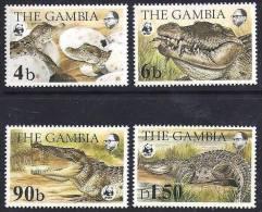 GAMBIE, WWF, Aligators, Crocodiles, Yvert 510/15** Neuf Sans Charniere. MNH - W.W.F.