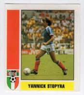 STICKER RECUPERATION FRATELLI VALLARDI ITALIE GRANDE CALCIO 1987/88 N° 359 YANNICK STOPYRA - FRANCE / SOCHAUX / BORDEAUX - Italienische Ausgabe