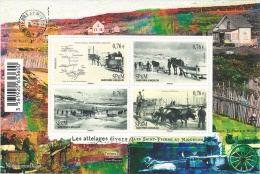 Saint Pierre And Miquelon, Animal Draft, 2015, MNH VF  Souvenir Sheet Of 4 - St.Pierre & Miquelon