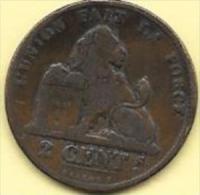 2 Centimes Cu 1875   Clas D 185 - 1865-1909: Leopold II