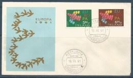1961 ISLANDA  Europa Cept  Busta FDC - 1961