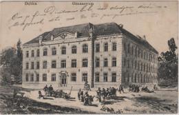 DEBICA - GIMNAZYUM , Poland , Old Postcard , Travelled , K.U.K. RESERVESPITAL IN DEBICA - Polen