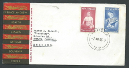 1963 NEW ZEALAND FDC PRINCE ANDREW TIMBRO ARRIVO - V - FDC