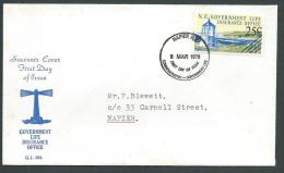 1978 NEW ZEALAND FDC GOVERNMENT LIFE NO TIMBRO ARRIVO - V2 - FDC