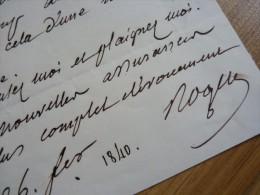 François ROGER (1776-1842) Député Corse / Langres - ACADEMIE FRANCAISE - Autographe - Autographes