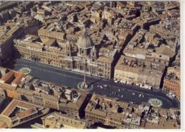 ROMA Piazza Navona, Veduta Aereo,  Nice Stamp Vaticano - Places & Squares