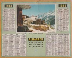 Calendrier - Almanach Des PTT 1961 - Alpes Maritimes, Complet - Big : 1961-70