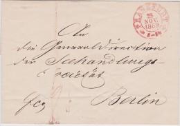 ALLEMAGNE  1859 LETTRE DE FRANKFURT - [1] ...-1849 Préphilatélie