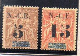 Nelle CALEDONIE : TP N° 65/66 * - Unused Stamps