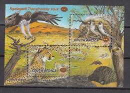 South Africa RSA 2001.2V In Block,birds,vogels,vögel,oiseaux,pajaros,uccelli,aves,jaguar,cheetah,MNH/Postfris(L2031) - Oiseaux