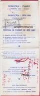 40 -MIMIZAN--Plage -Bourg--Le REX Programme Festival De Cinema De L´Eté 1982 - Cinema Advertisement
