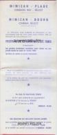 40 -MIMIZAN--Plage -Bourg--Le REX Programme Festival De Cinema De L´Eté 1983 - Pubblicitari